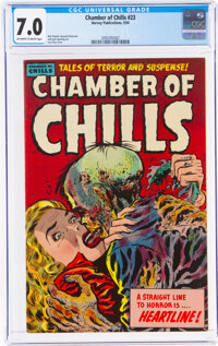 Chamber of Chills #23 (#3) (Harvey, 1951) CGC FN/VF 7.0 Off-white to white pages
