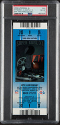 Football Collectibles:Tickets, 2006 Super Bowl XL Full Ticket (Blue), PSA NM-MT 8 - Pittsburgh Steelers Win 5th Super Bowl. ...