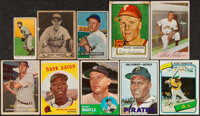 1909-1983 Topps and Bowman Baseball & Football Stars/HoFers Card Collection (38) with Rookies