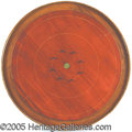 Antiques:Toys, ROUND CANADIAN CROKINOLE GAME BOARD. Manufactured by A. E. Ho...