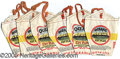 Advertising:Tobacciana, (6) COLORFUL OCEANIC CUT PLUG TOBACCO BAGS. Group lot of excelle...