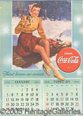 "Advertising:Soda Items, 1941 "" THIRST KNOWS NO SEASON"" COCA COLA CALENDAR. This wo..."