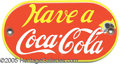 Advertising:Soda Items, RARE COCA COLA PORCELAIN PALM PUSH. Listed in Pettretti's book a...