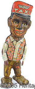 Antiques:Toys, MARX WINDUP AMOS COMIC CHARACTER WALKING TIN TOY. In 1928 ...