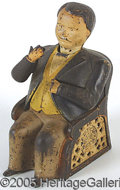 Antiques:Toys, TAMMANY HALL CAST IRON MECHANICAL BANK. Retaining much of it's o...