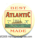 Advertising:Tobacciana, EARLY TOBACCO ADVERTISING PIN BEST ATLANTIC MADE. Nice colorful ...