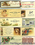 Advertising:Small Novelties, COLLECTION OF 19 CELLULOID ADV. BLOTTERS. Great collection of...