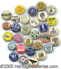Advertising:Pocket Mirrors & Pinbacks, LOT OF 30 UNUSUAL AND EXCELLENT BICYCLE PINS. Whether you are...