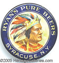 Advertising:Breweriana, RARE RYAN'S PURE BEER PRE PROHIBITION POCKET MIRROR. Beautifully...