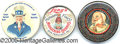 Advertising:Pocket Mirrors & Pinbacks, 3 ADVERTISING NOVELTY POCKET MIRRORS. Here we have three unusual...