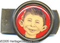 Entertainment Collectibles:Comic Character, UNUSUAL ALFRED E. NEWMAN EARLY SOUVENIR MONEY CLIP. This fantast...