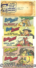 Entertainment Collectibles:Comic Character, RARE SET OF GENE AUTRY COMICS FROM QUAKER CEREAL WITH ORIGINAL M...