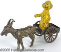 Entertainment Collectibles:Comic Character, YELLOW KID IN GOAT CART. Made of cast iron and tin this item fea...