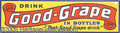Advertising:Soda Items, GOOD GRAPE POP TIN STRIP SIGN. Neat embossed soda pop sign...