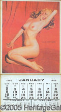 Entertainment Collectibles:Movie, SOUGHT-AFTER MARILYN MONROE CALENDAR. This rare 1955 calendar...