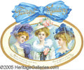 Advertising:Paper Items, 1912 FAIREST MAIDENS CALENDAR. Beautifully multi-colored, gold e...