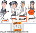 Entertainment Collectibles:Music, DATED 1964 (4) BEATLES PIN-UP SCREAMERS. Cool set of Beatles ...