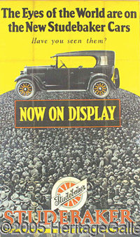 EARLY RARE STUDEBAKER CAR ADVERTISING. P What a great car !! Studebaker was the car to get ! This classic ad for the Stu...