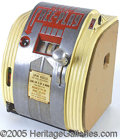 """Antiques:Candy Containers, DAVAL FREE-P0LAY CIGARETTE MATCHING-GUM BALL MACHINE. 12"""" high m..."""