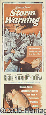RONALD REAGAN AND THE KKK MOVIE POSTER. We have seen most of the movie posters for films in which Reagn starred, but hav...