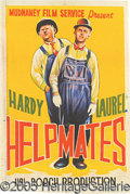Entertainment Collectibles:Movie, COLORFUL LAUREL AND HARDY MOVIE POSTER. Great 1944-dated 20 x 30...