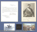 Autographs:Military Figures, GENERAL NELSON MILES WHO CAPTURED GERONIMO. 1910 signed typed le...