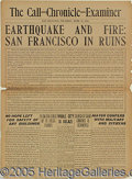 General Historic Events, GREAT SPECIAL EXTRA EDITION FROM THE DAY AFTER THE EARTHQUAKE. 4...
