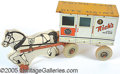 Antiques:Toys, RICH'S LITTLE MILK WAGON AND HORSE. Made of lithographed t...