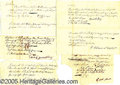 Military & Patriotic:Revolutionary War, INTERESTING COLLECTION OF HAND-WRITTEN REVOLUTIONARY WAR MILITAR...