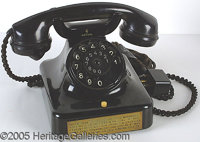 HERMAN GOERING'S PERSONAL TELEPHONE. P Very well-made Siemens phone, which came from the office of the Field Marshall's...
