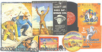 5 COWBOY HERO RELATED ITEMS LONE RANGER, ROY ROGERS, ETC. P Lot of 5 different cowboy hero items including a Roy Rogers...