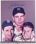 Miscellaneous, WILLIAMS-DIMAGGIO-MUSIAL SIGNED COLOR PHOTO. This attractive ...