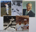 Miscellaneous, (5) AUTOGRAPHED 8 X 10'S OF JOE DIMAGGIO. A nice group of 5 auto...