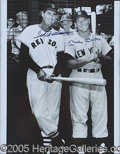 "Miscellaneous, 16 X 20"" PHOTO AUTOGRAPHED BY MICKEY MANTLE AND TED WILLIAMS."