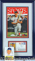 Miscellaneous, (2) TED WILLIAMS AUTOGRAPHS. A beautifully framed display of ...