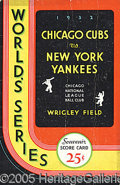 Miscellaneous, 1932 CHICAGO WORLD SERIES PROGRAM GAME 4. From the famous Rut...