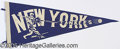 Miscellaneous, LATE 1940'S NEW YORK YANKEE PENNANT. Here we have a very unus...