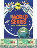 Miscellaneous, 1965 WORLD SERIES PROGRAM. The collector who demands the best in...