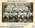 Miscellaneous, THE 1952-'53 NEW YORK RANGERS. Though the medium is rather subst...