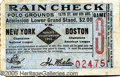 Miscellaneous, 1912 - RED SOX VS. GIANTS. The mystery of this World Series tick...