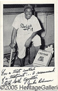 Miscellaneous, JACKIE ROBINSON ENDORSEMENT. This could be his first endorsement...