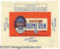 Miscellaneous, RUTH'S HOME RUN CANDY WRAPPER. In the early 1920's, Babe Ruth...