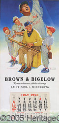 Miscellaneous, BROWN & BIGELOW POSTER CALENDAR. The advertising magnate, Brown...
