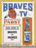 Miscellaneous, THE BRAVES SCHEDULE PER PABST. Determined research would disclos...