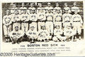 Miscellaneous, THE 1912 RED SOX. A George Burke stamp on the reverse assures...