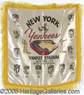 Miscellaneous, NEW YORK YANKEES BANNER. With a tradition dating to the arrival ...
