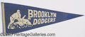 Miscellaneous, BROOKLYN DODGER PENNANT. Wemay assume that this offered pe...