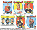 Miscellaneous, 1971/72 TOPPS HOCKEY SET. Almost categorically, this set of 1...