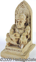 Miscellaneous, HONUS WAGNER STATUE. This is a ceramic sculpture intended to ...