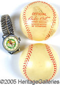 "Miscellaneous, ""BABE RUTH"" WRIST WATCH. Among the later, and thoroughly succ..."